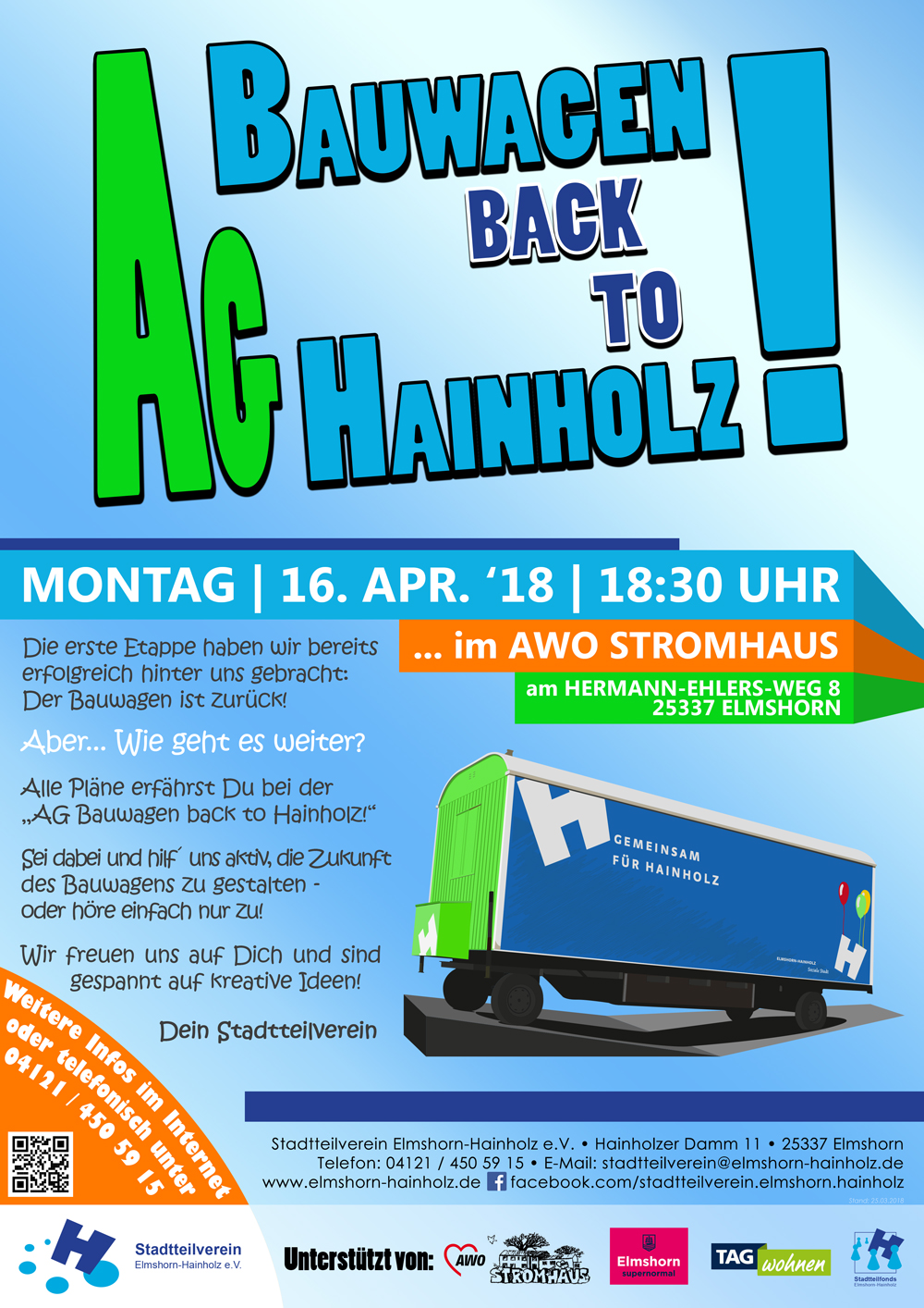 2018 04 16 AG Bauwagen back to Hainholz Flyer front